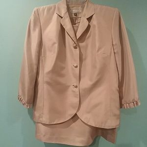 Travis Ayers silk dress suit blazer & skirt